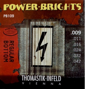 Thomastik PB109 Power-Brights Regular Bottom Комплект струн для электрогитары, 9-42