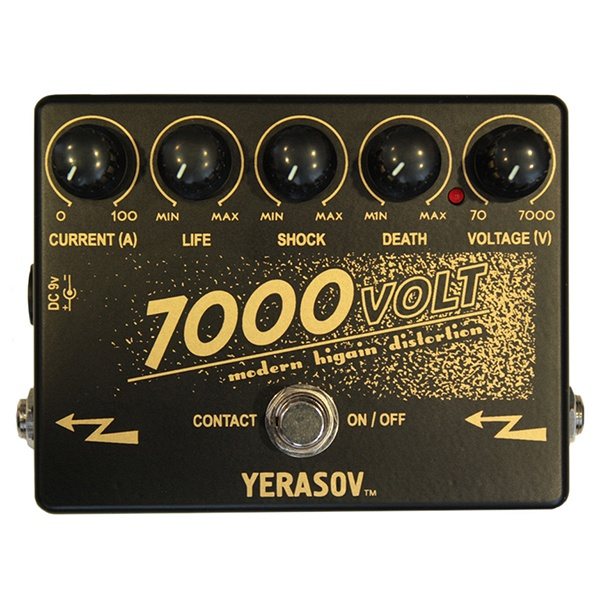 7000-Volt Modern higain distortion Педаль эффектов Yerasov