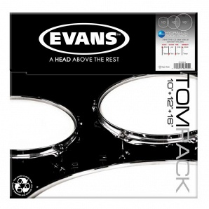"Evans ETP-HYDGL-R Hyaulic Glass Rock Набор пластика для том барабана, 10""/12""/16"""