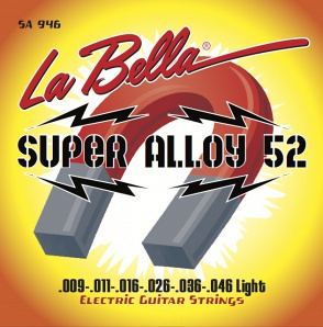 La Bella SA946 Super Alloy 52 Комплект струн для электрогитары 009-046