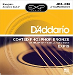Фото:D'Addario EXP19 Coated Phosphor Bronze Струны для акуст. гитары, L. Top/M. Bottom/Bluegrass, 12-56