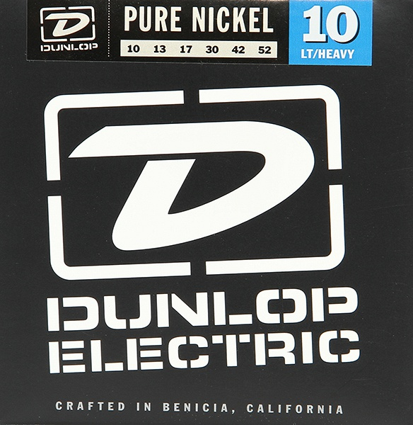 DEK1052 Pure Nickel Комплект струн для электрогитары, никель, Light/Heavy, 10-52, Dunlop