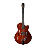 Фото:Godin 5th Ave Uptown T-Armond Havana Burst Электрогитара арктоп, с футляром