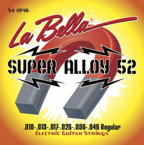 La Bella SA1046 Super Alloy 52 Комплект струн для электрогитары 010-046