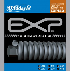 D'Addario EXP140 COATED NICKEL Струны для электрогитары Light Top/Heavy Bottom 10-52 D`Addario
