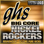 Фото:GHS BCCL Big Core Nickel Rockers Комплект струн для электрогитары