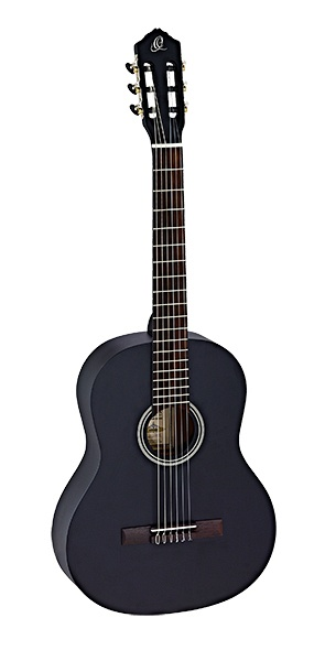 RST5MBK Student Series Классическая гитара, размер 4/4, черная, матовая, Ortega