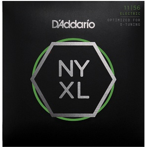 NYXL1156 NYXL Комплект струн для электрогитары, M Top / E-H Bottom, 11-56, D'Addario