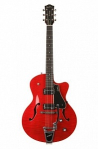 Godin 5th Avenue Uptown Tr Red GT w/Bigsby Электрогитара арктоп