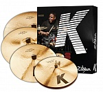 "Фото:ZILDJIAN K CUSTOM DARK 5 PC CYMBAL SET Комплект тарелок 14""/16""/18""/20"""