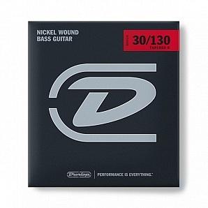 DBN30130T Tapered Комплект струн для 6-струнной бас-гитары, никелированные, Medium, 30-130, Dunlop